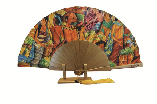 Painted hand fan