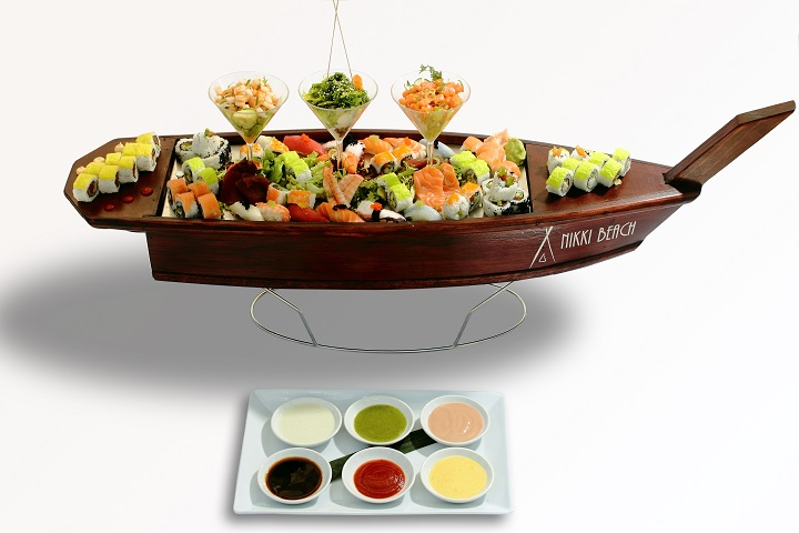 Nikki Beach Sushi Boat Full