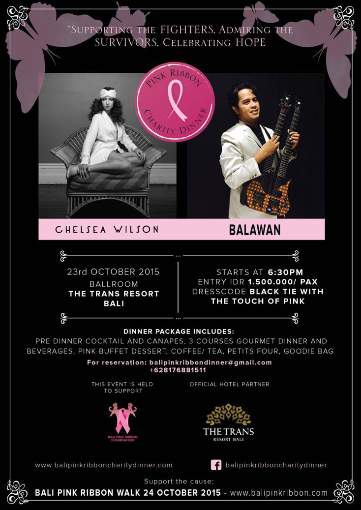 bali pink ribbon charity dinner