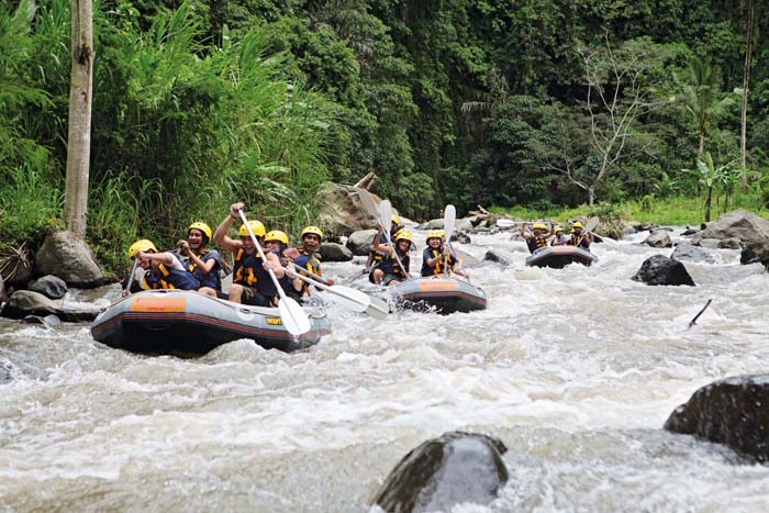 White Wafter Rafting in Bali Adventure Tours
