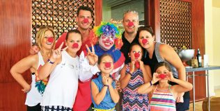 Family-with-red-nose