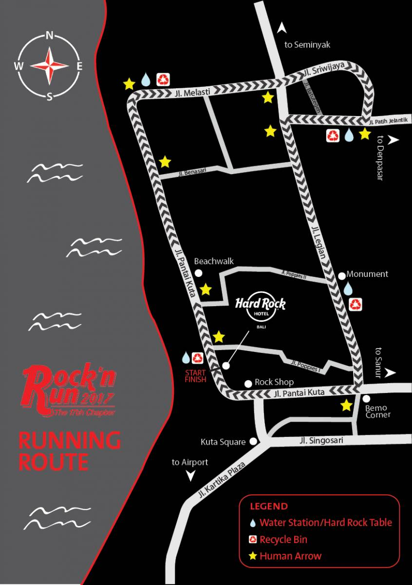 Rock n Run 2017 Run Map