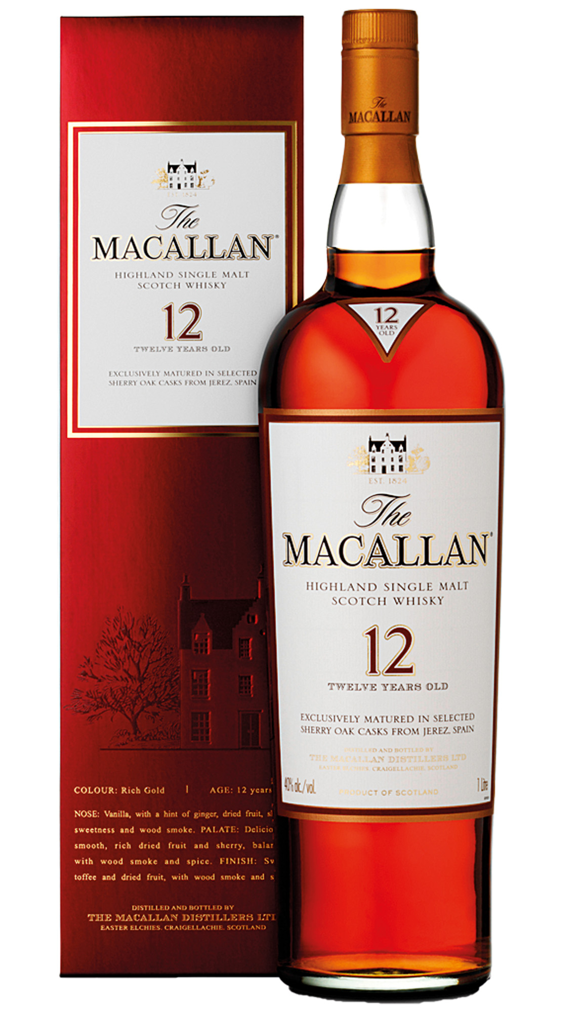 Macallan Sherry Oak 12 Years Old