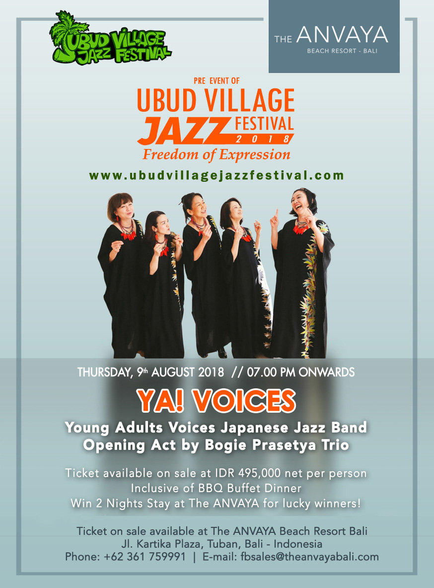 Ya Voices anvaya beach resort bali ubud village jazz festival