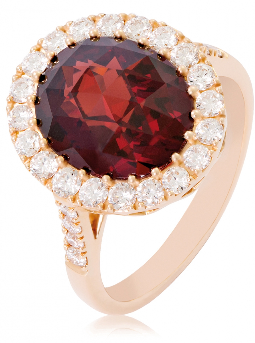 Shopping - Jemme - Garnet Garden Party ring in Rose Gold