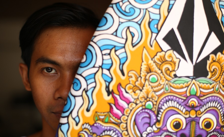Volcom artists Indonesia Wayan Bayu Adhy Wiguna