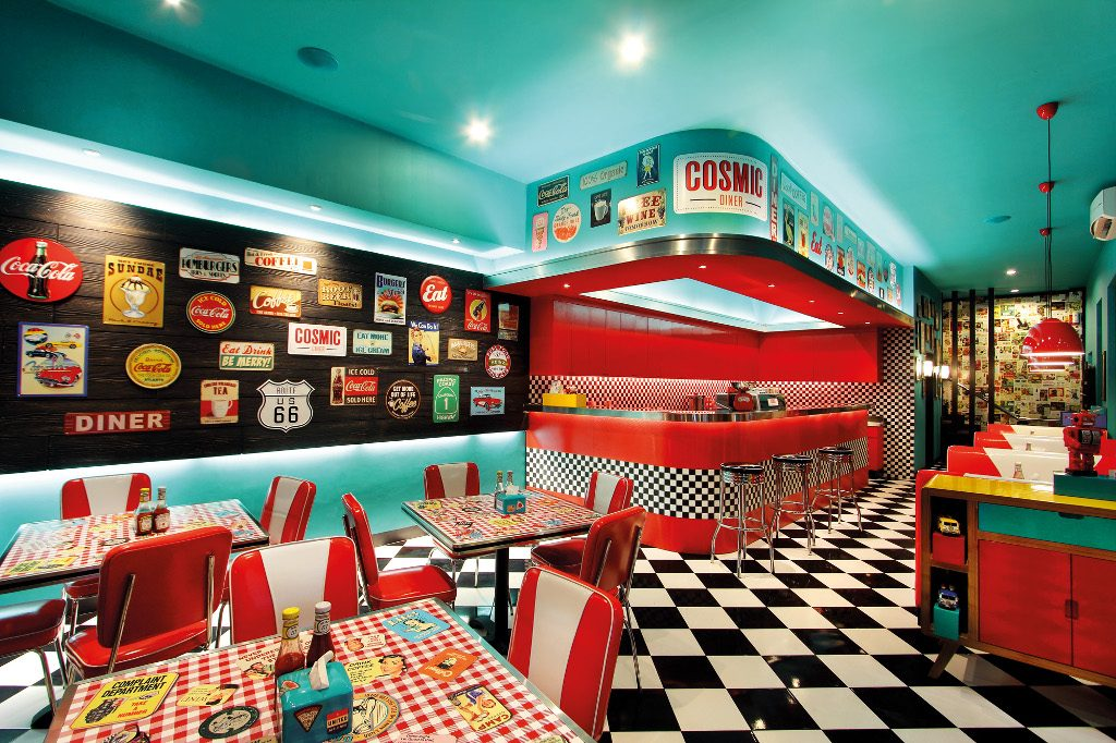 Cosmic Diner 60 S New York City On Sunset Road Now Bali