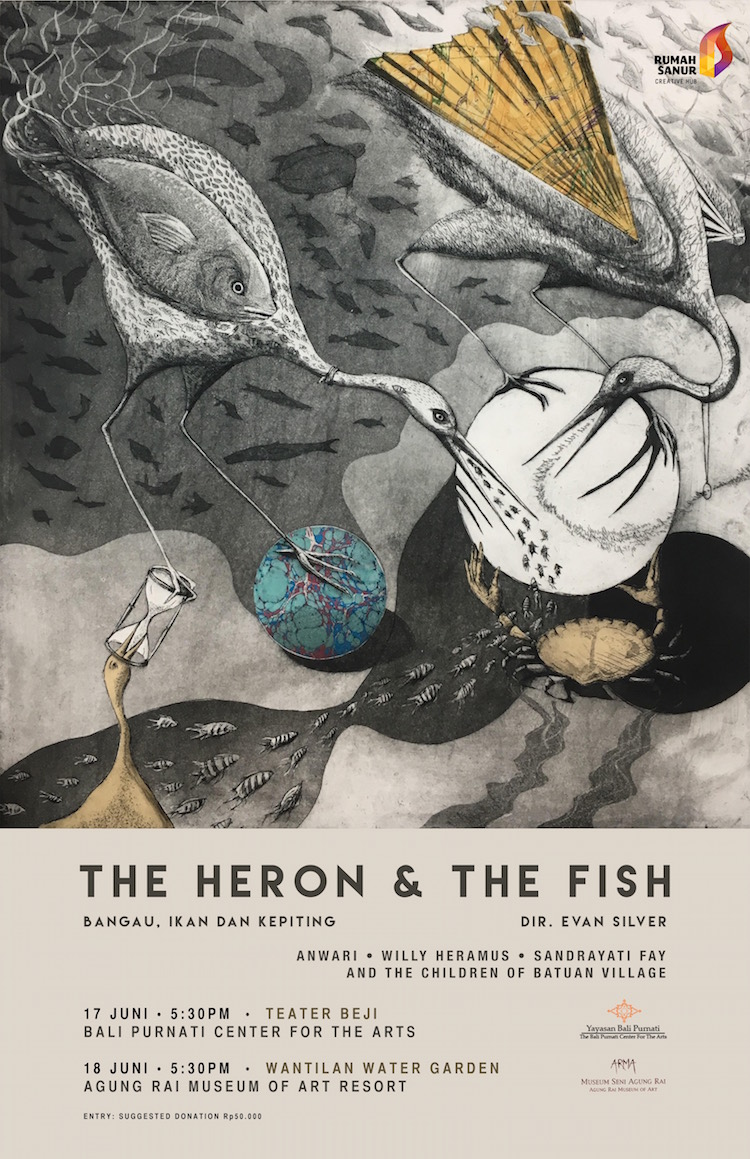 Heron & the Fish Theatre in Bali