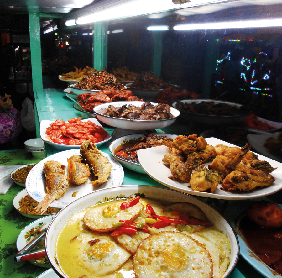 Variety of Food at Sindhu Night Market. Photo by Joannes Rhino
