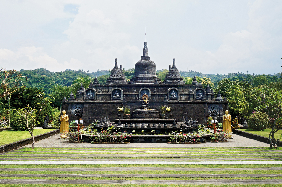 The Mini Borobudur at Brahmavihara Arama Buddist Monastery