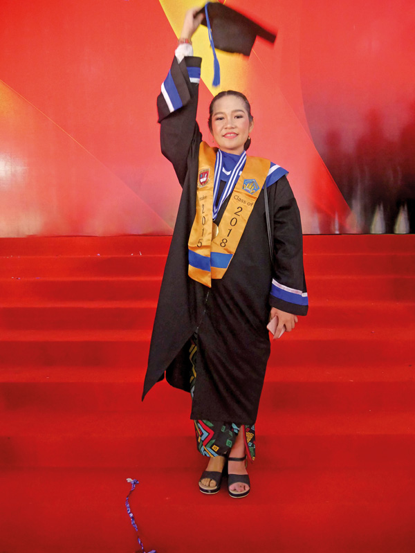 Bali Heroes Puspadi Ni Kadek Namiani Tiara Putri is thrilled to have graduated at the top of her class