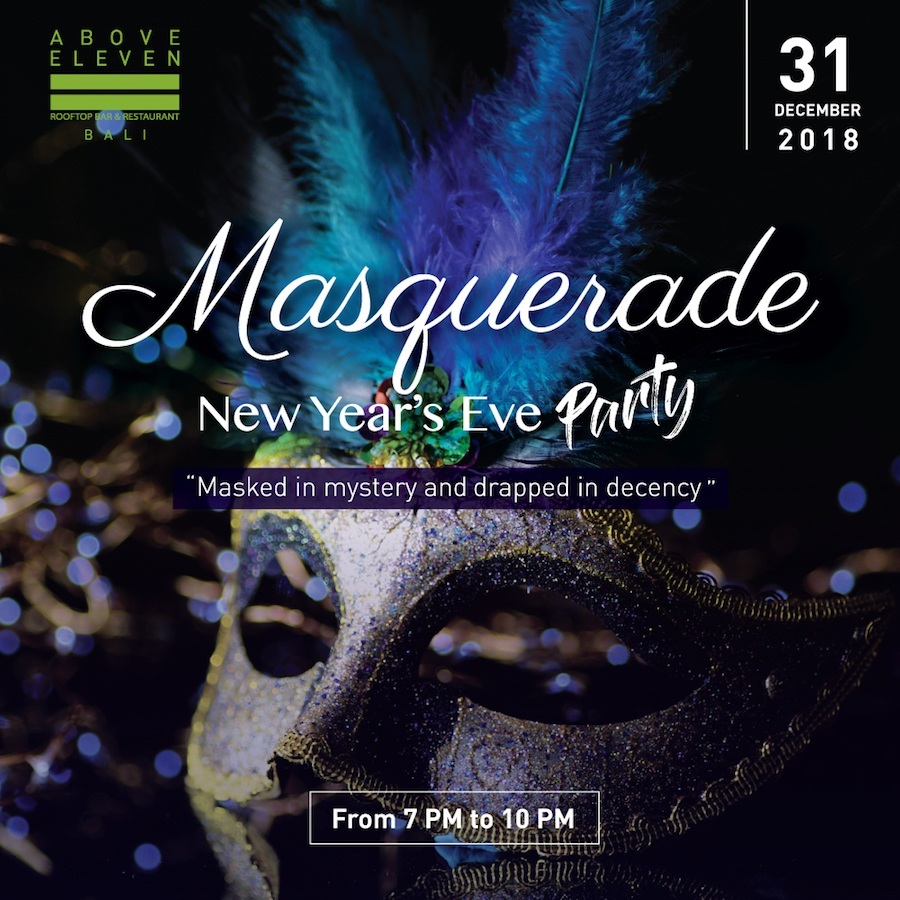The Masquerade New Year's Eve Party at Above Eleven Bali