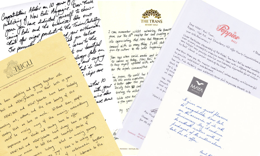 Dear NOW! Bali, Letters from Our Friends On Our Anniversary - NOW! Bali