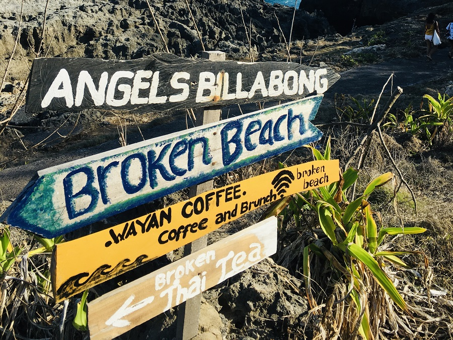 Nusa Penida - Broken Beach & Angel's Billabong Sign